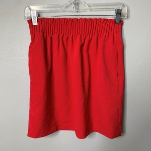 J. Crew Red Elastic Waist Skirt